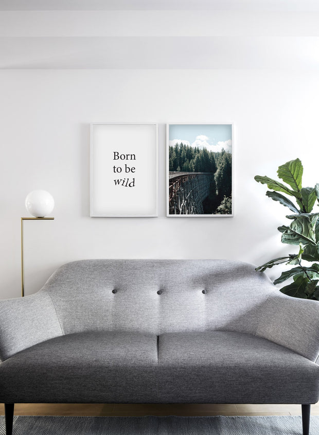 Ten Feet Tall modern minimalist nature photography poster by Opposite Wall - Living room