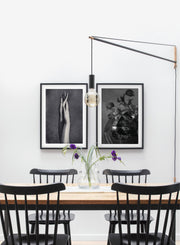 Dried Bouquet modern minimalist black and white photography poster by Opposite Wall - Dining Room - Duo