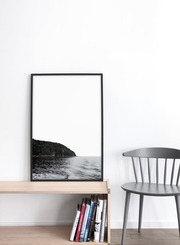 Serenity modern minimalist nature photography poster by Opposite Wall - Living room