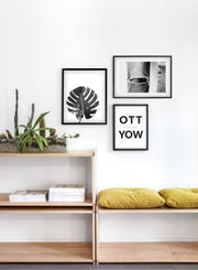Ripped modern minimalist black and white photography poster by Opposite Wall - Entryway - Trio