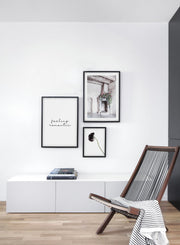 Corner Bouquet modern minimalist floral photography poster by Opposite Wall - Living Room - Trio