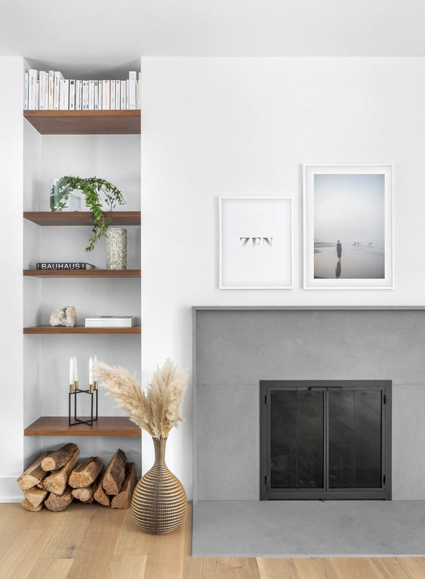 All is Calm modern minimalist photography poster by Opposite Wall - Fireplace - Duo