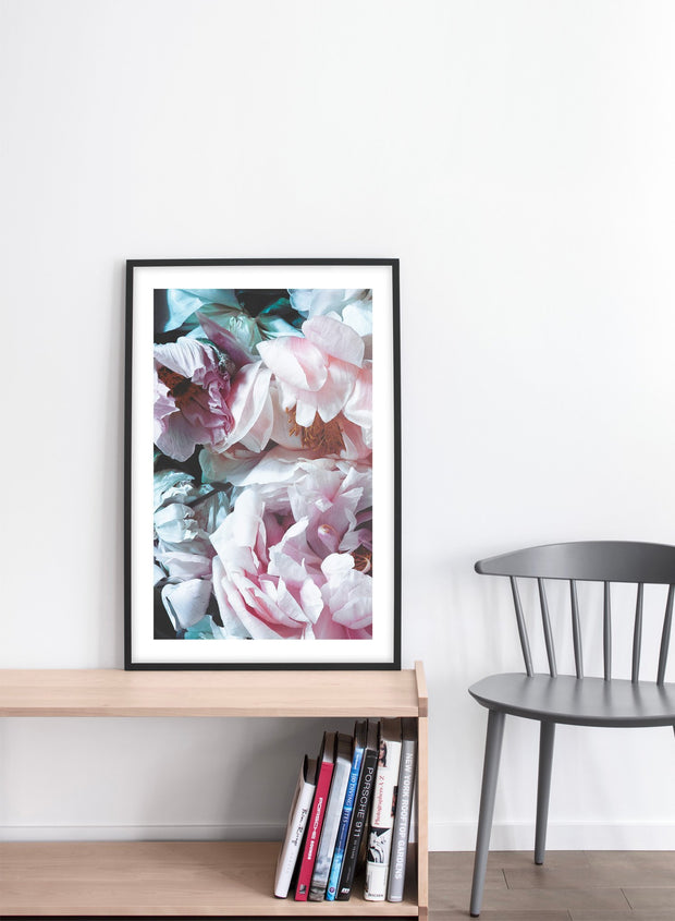 Droopy Petals modern minimalist floral photography poster by Opposite Wall - Living Room