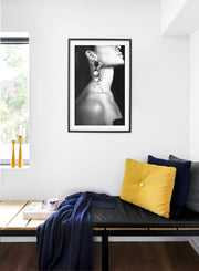 Earring modern minimalist black and white photography poster by Opposite Wall - Bedroom