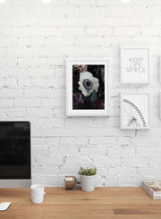 White Flower modern minimalist photography poster by Opposite Wall - Office - Trio