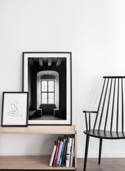Alcove modern minimalist black and white photography poster by Opposite Wall - Bedroom