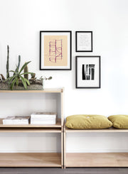 Scandinavian poster by Opposite Wall with abstract painting of Maze from above - Trio - Entryway