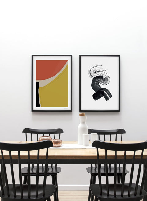 Minimalist abstract art paint design by Lisa Wirenfelt - Duo - Dining Room