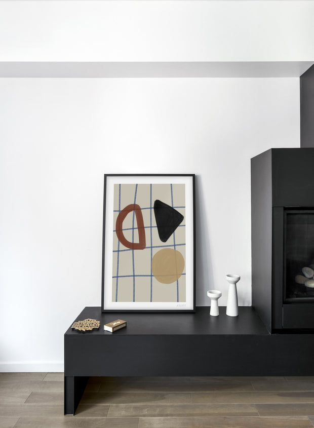 Minimalist abstract art paint design by Lisa Wirenfelt of Tic Tac Toe - Living Room