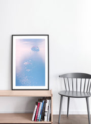 Ripple effect modern minimalist nature photography poster of bubble in water by Opposite Wall - Living Room