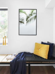 Tropic Blur modern minimalist botanical photography poster by Opposite Wall - Bedroom