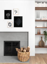 Cubic Landscape modern minimalist abstract photography poster by Opposite Wall - Quad - Living Room Fireplace