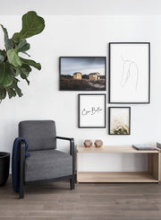 Modern minimalist poster by Opposite Wall with abstract illustration of solemn woman line art - Gallery Wall - Living Room