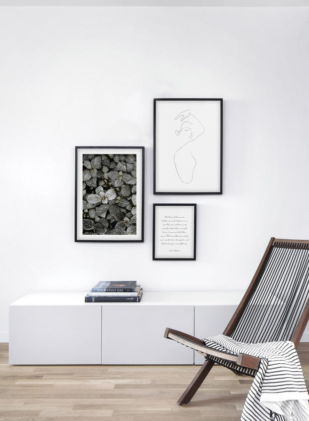 Modern minimalist poster by Opposite Wall with abstract illustration of woman line art - Gallery Wall trio - Living Room