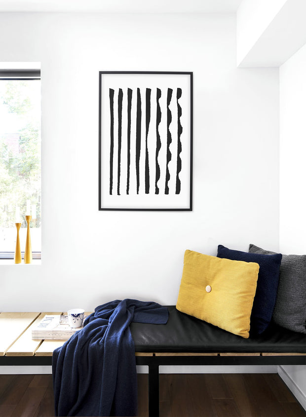 Modern minimalist poster by Opposite Wall with abstract design of Different Together by Toffie Affichiste - Bedroom