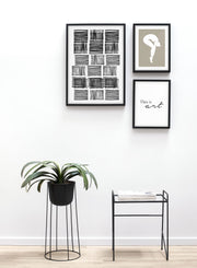 Modern minimalist poster by Opposite Wall with abstract design of Day After Day by Toffie Affichiste - Gallery Wall Trio - Entryway