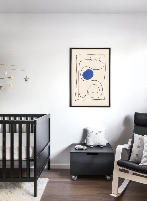 Modern minimalist poster by Opposite Wall with abstract design of Snakes and Ladders by Toffie Affichiste - Kid's Bedroom