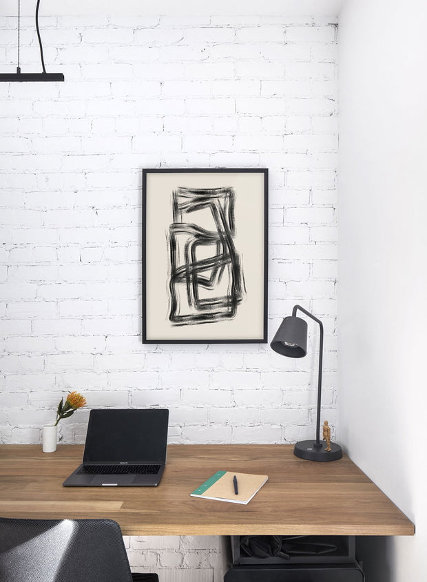 Modern minimalist poster by Opposite Wall with abstract design of Underground by Toffie Affichiste - Office Desk