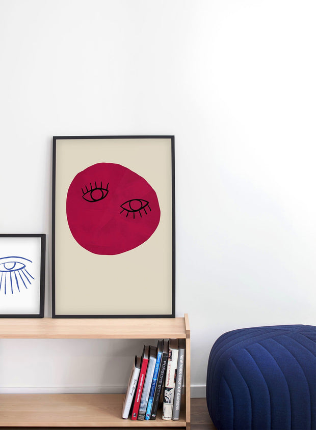Modern minimalist poster by Opposite Wall with abstract design poster of Unconventional Beauty by Toffie Affichiste - Gallery Wall Duo - Living Room