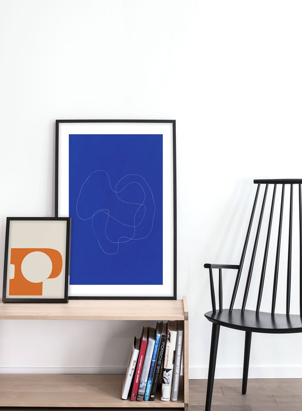 Modern minimalist poster by Opposite Wall with abstract design of Squid Ink Truffle by Toffie Affichiste - Gallery Wall Duo - Entryway
