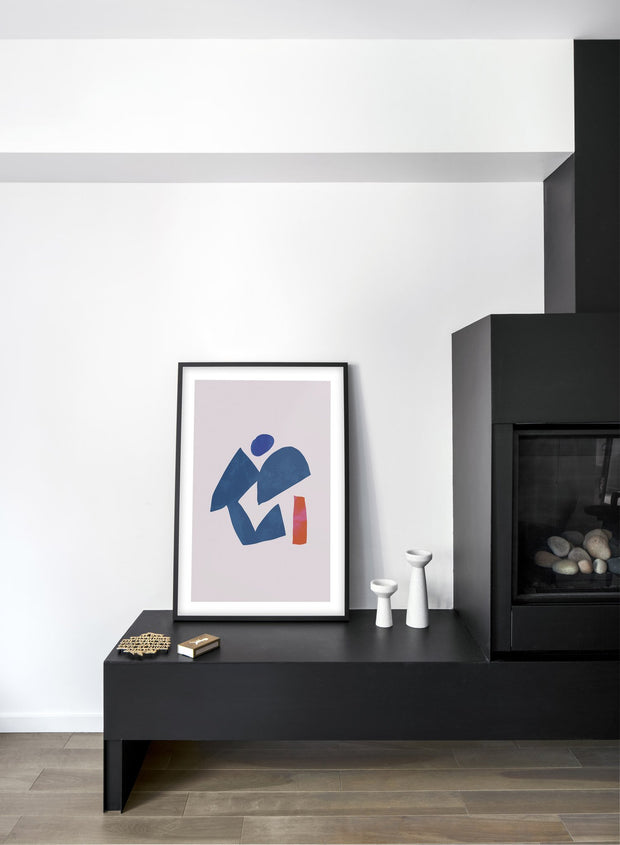 Modern minimalist poster by Opposite Wall with abstract design of Deity by Toffie Affichiste - Living Room