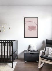Modern minimalist poster by Opposite Wall with abstract design of Slumber by Toffie Affichiste - Kid's Bedroom