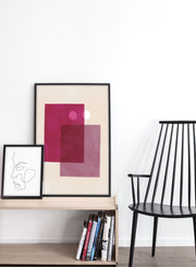 Modern minimalist poster by Opposite Wall with abstract design of Sandy by Opposite Wall - Entryway