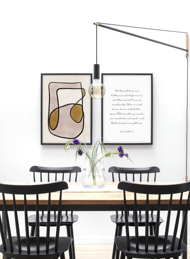 Modern minimalist poster by Opposite Wall with abstract design of Music In Me by Toffie Affichiste - Gallery Wall Duo - Dining Room