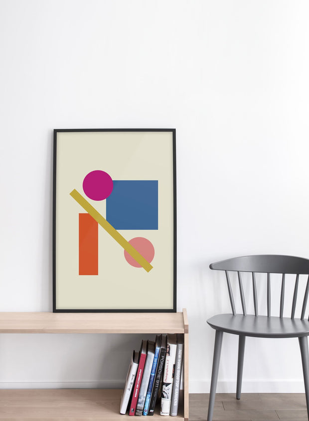 Modern minimalist poster by Opposite Wall with abstract design of Ladder by Toffie Affichiste - Entryway