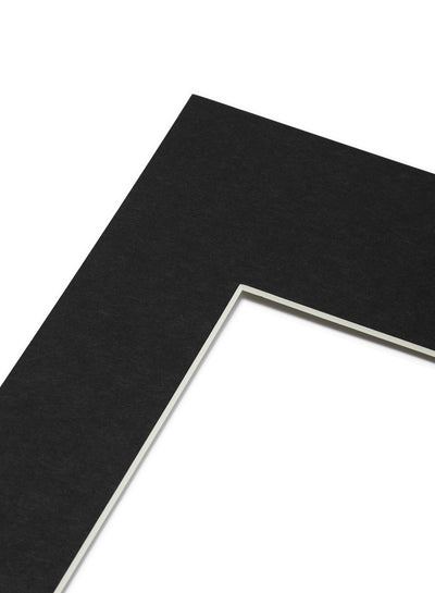 Scandinavian black mat passepartout by Opposite Wall - for frames - made on acid-free FSC paper