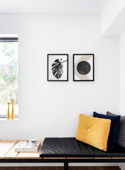Modern minimalist poster by Opposite Wall with abstract graphic Gold Dust design - Cozy living room nook