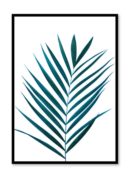 Scandinavian art print by Opposite Wall with Exotic palm leaf photography
