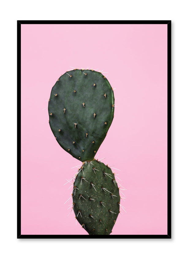 Modern minimalist poster by Opposite Wall with trendy Hello Cactus art photo on pink background