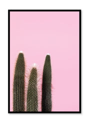 Scandinavian poster by Opposite Wall with Cactus Times Three on pink