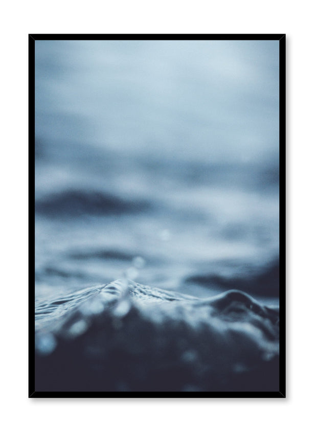 Modern minimalist art print by Opposite Wall with wave White Water blue photography