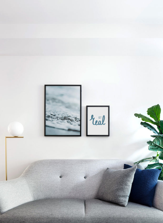 Scandinavian poster by Opposite Wall with Shore art photo - Living room with a sofa