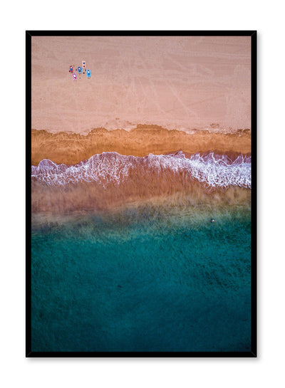 Scandinavian art print by Opposite Wall with aerial art photo of The Beach