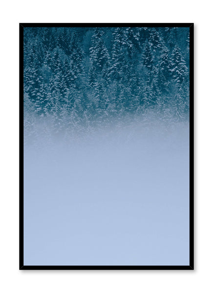 Minimalist design poster by Opposite Wall with misty Winter Forest photography