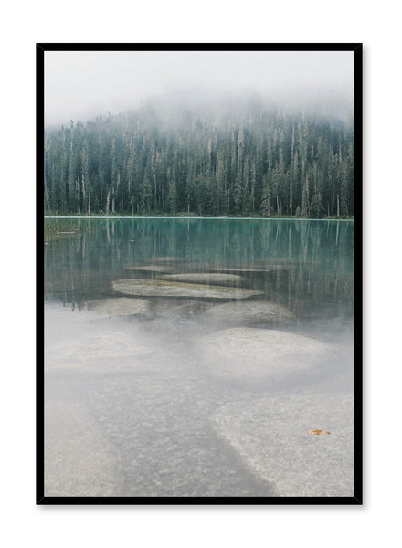 Scandinavian art print by Opposite Wall with  trendy landscape art photo - Mist