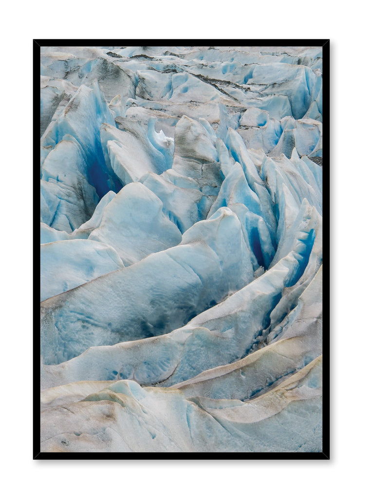 Scandinavian poster by Opposite Wall with cool Glacier photography