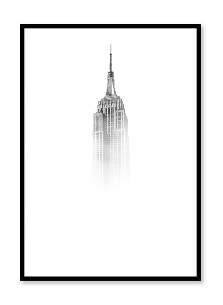 Scandinavian poster by Opposite Wall with black and white Icon photo art print
