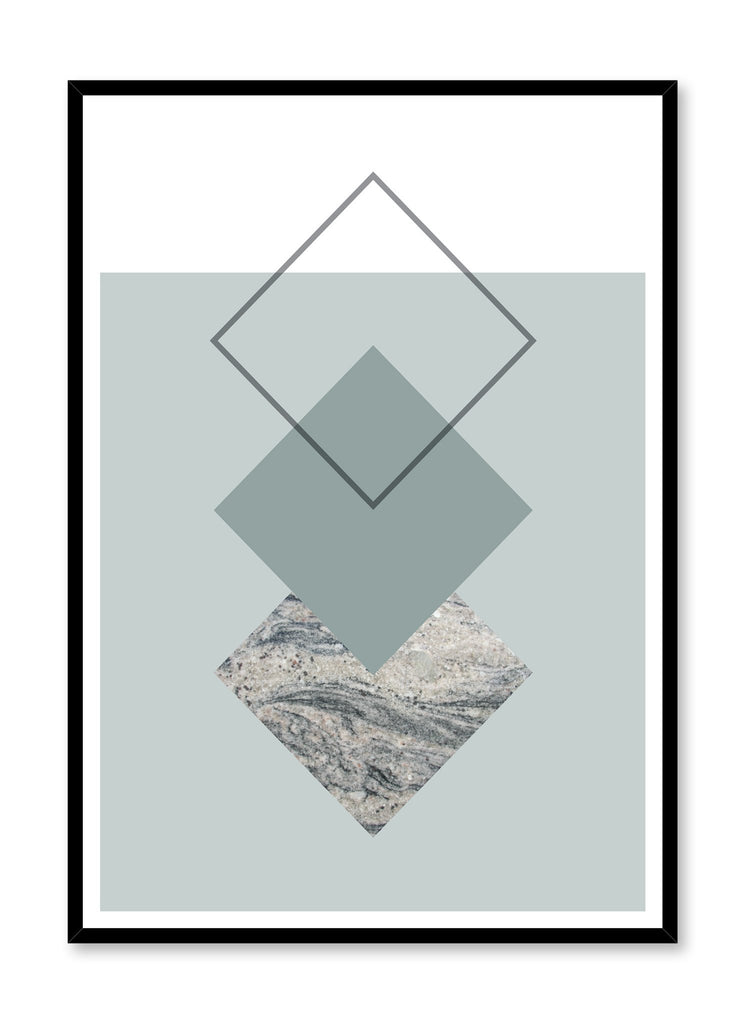 Scandinavian art print by Opposite Wall with trendy Laurel green and marble abstract graphic design