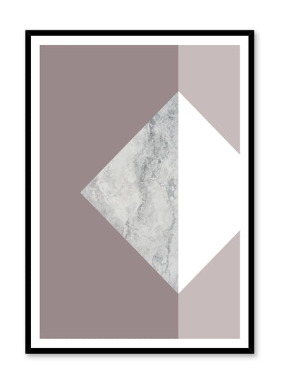 Modern minimalist poster by Opposite Wall with Hush violet and marble graphic design