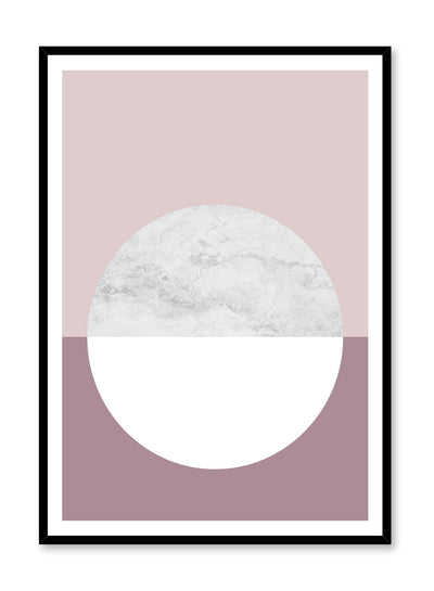Unique poster with Cinder rose abstract graphic design