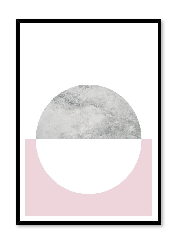 minimalist poster by Opposite Wall with trendy pink and marble abstract graphic design Heavenly