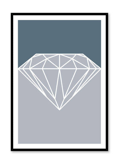 Scandinavian art print by Opposite Wall with trendy design - sterling diamond graphic