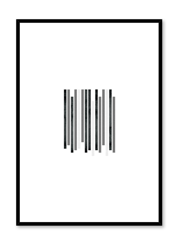 Scandinavian art print by Opposite Wall with black and white abstract graphic design - Zoom In