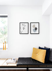 Modern minimalist art print by Opposite Wall with trendy abstract graphic Gradient Shapes design - Cozy living room nook