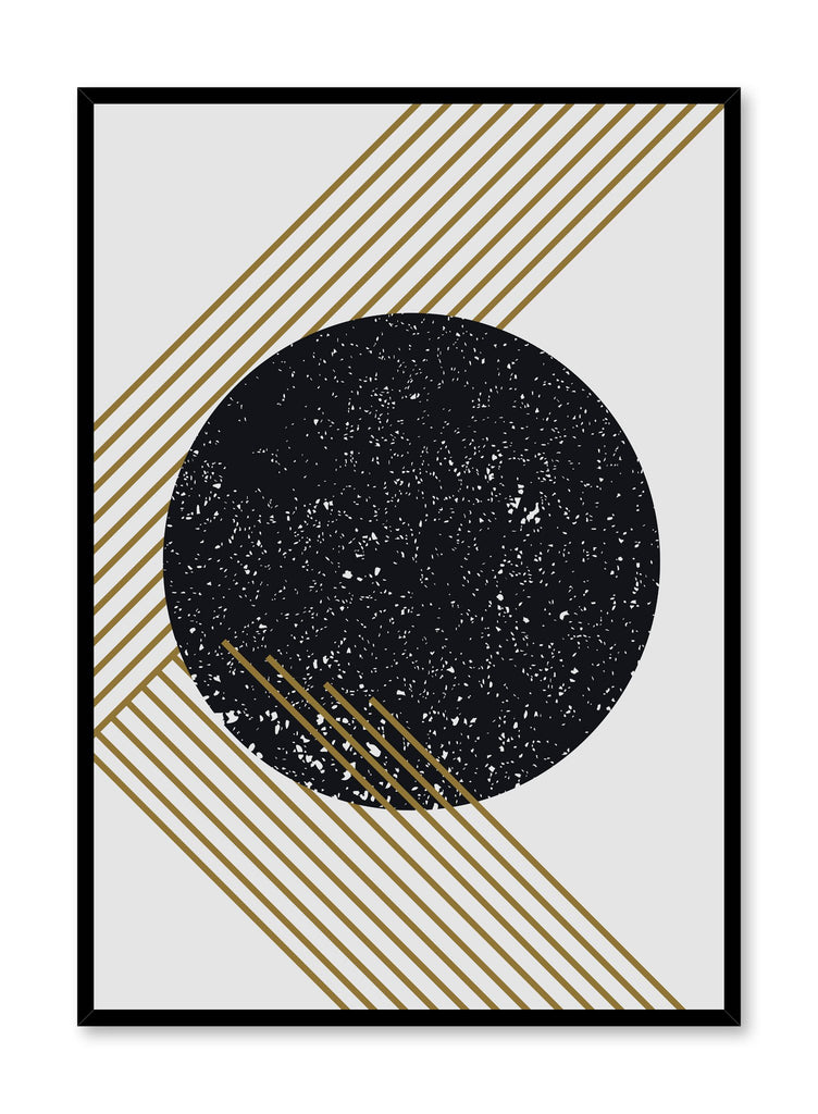 Modern minimalist poster by Opposite Wall with abstract graphic Gold Dust design