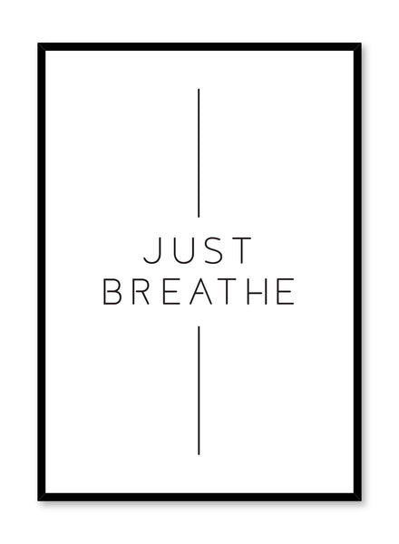 Modern minimalist art print by Opposite Wall with graphic Breathe design